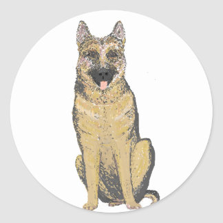 German Shepherd Products customize Classic Round Sticker