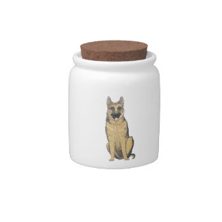German Shepherd Products customize Candy Dish