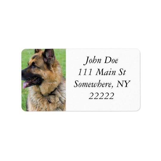 German Shepherd Profile Address Label