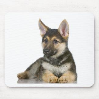 german shepherd pup puppy dog mouse mat