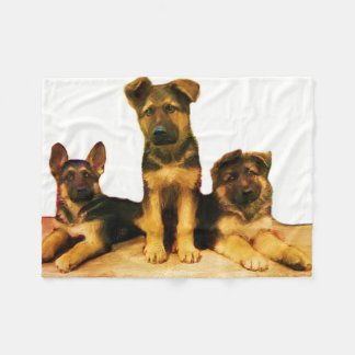 German Shepherd puppies Fleece blanket