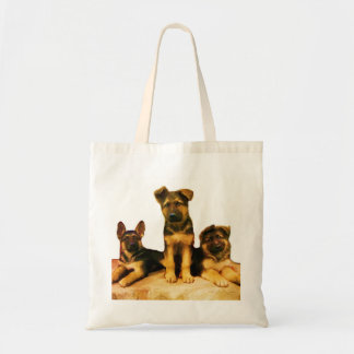 German Shepherd puppies tote bag
