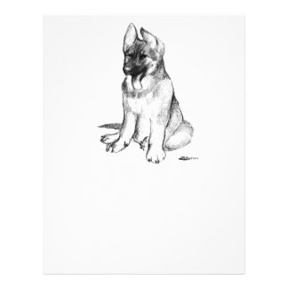 German Shepherd Puppy 21.5 Cm X 28 Cm Flyer