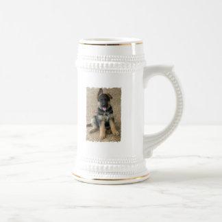 German Shepherd Puppy Beer Stein Mug