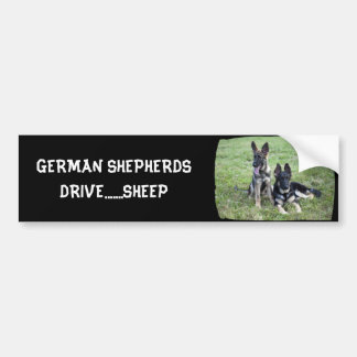 GERMAN SHEPHERD PUPPY BUMPER STICKER