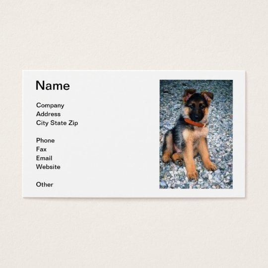 German Shepherd Puppy Business Card
