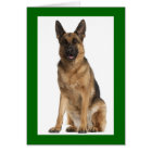 German Shepherd Puppy Dog Blank Note Card