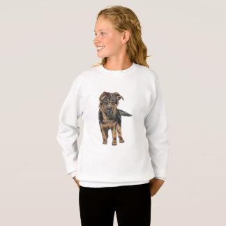 German Shepherd Puppy Drawing Sweatshirt