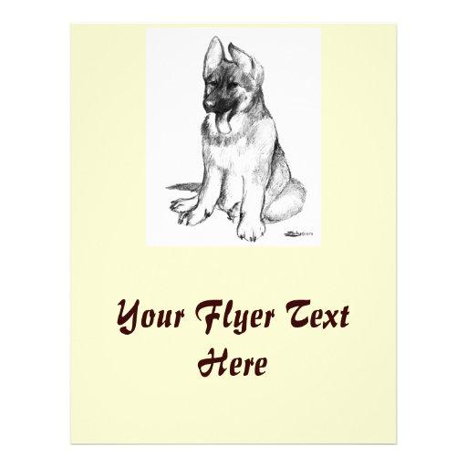 German Shepherd Puppy Flyer