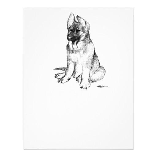 German Shepherd Puppy Flyer Design