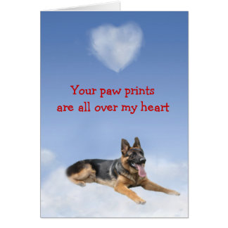 German Shepherd Puppy Love Card