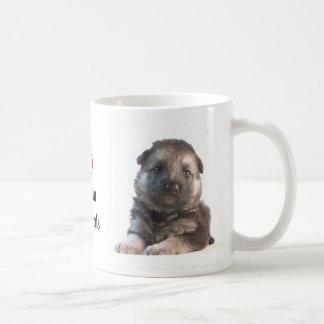 German Shepherd Puppy Basic White Mug