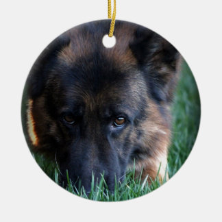 German Shepherd Randy vom Leithawald Christmas Ornament
