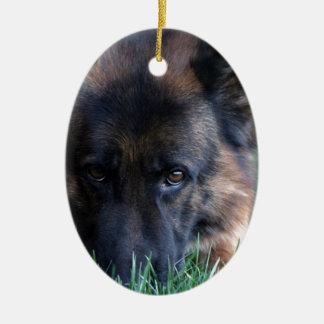 German Shepherd Randy vom Leithawald Christmas Ornament