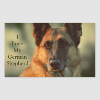 German Shepherd Rectangular Sticker