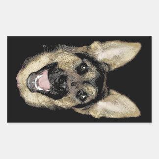 German Shepherd Rectangular Sticker