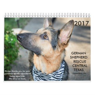 German Shepherd Rescue Central Texas 2017 calendar