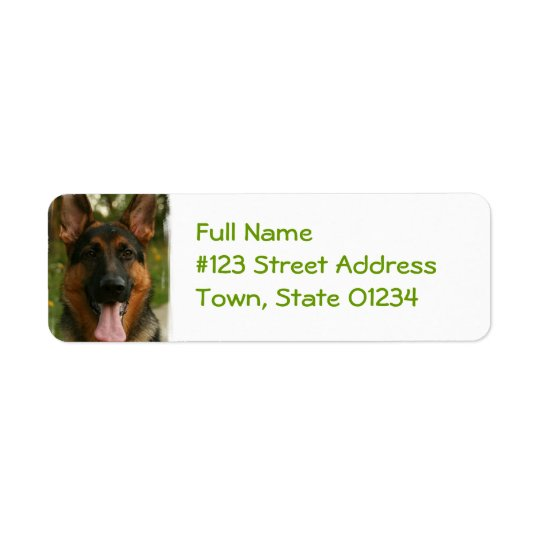 German Shepherd Return Address Label