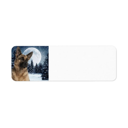 German Shepherd Return Address Label