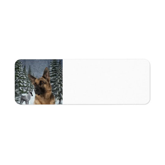 German Shepherd Return Address Labels
