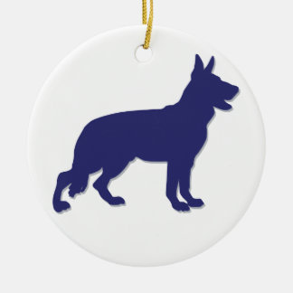 German Shepherd Round Ceramic Decoration