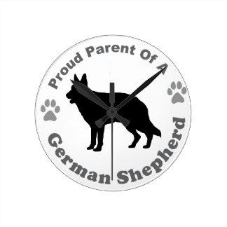 German Shepherd Round Clock