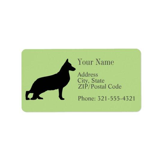 German Shepherd Silhouette Address Label
