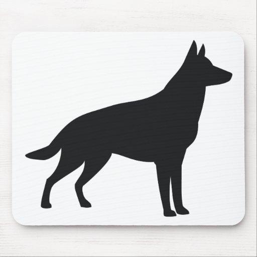 German Shepherd Silhouette Mousepads | Zazzle
