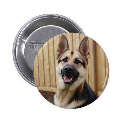 German Shepherd Sitting Pinback Button