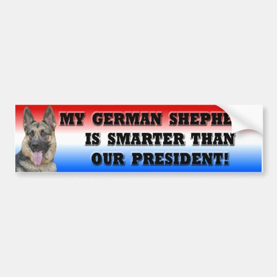 German Shepherd Smarter Than President Bumper Sticker