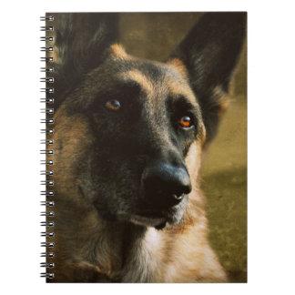 German Shepherd Spiral Note Books