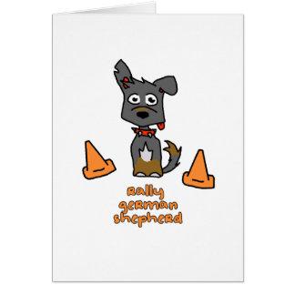German Shepherd Sports Greeting Card