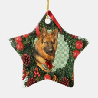 German Shepherd Star Ornament