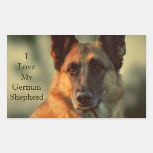 German Shepherd Rectangle Stickers