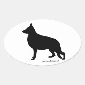German Shepherd Oval Sticker
