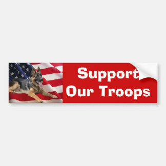 German Shepherd Support Bumper Sticker