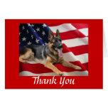 German Shepherd Thank You Card All American