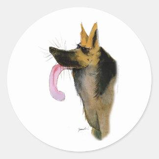 German Shepherd, tony fernandes Round Sticker