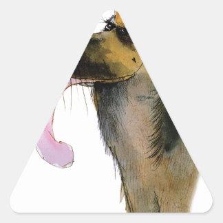 German Shepherd, tony fernandes Triangle Sticker