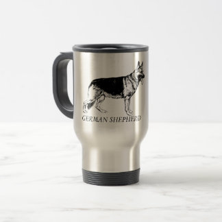 German Shepherd travel mug