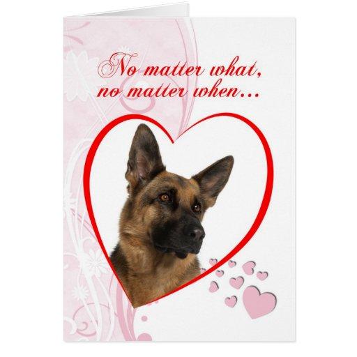German Shepherd Valentine Greeting Card