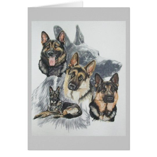 German Shepherd wGhost Card