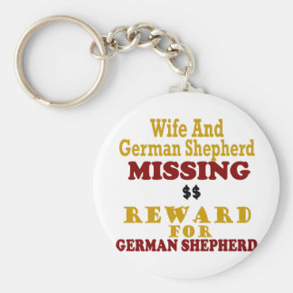 German Shepherd & Wife Missing Reward For German S Key Ring