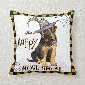 German Shepherd Witch Cushion