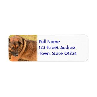 German Shepherd with One Floppy Ear Return Address Label