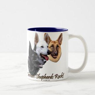 German Shepherds Rock Trio Two-Tone Coffee Mug