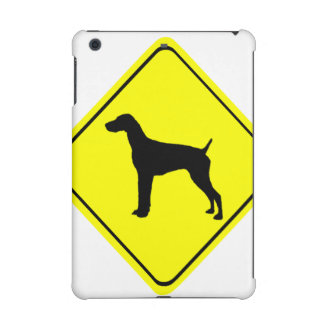 German short-Haired Pointer Dog Crossing Sign iPad Mini Cover