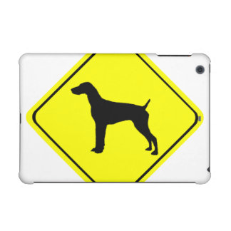 German short-Haired Pointer Dog Crossing Sign iPad Mini Retina Cases