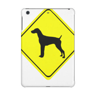 German short-Haired Pointer Dog Crossing Sign iPad Mini Retina Covers