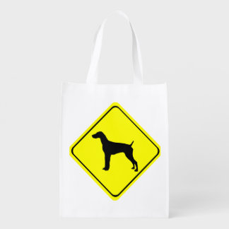 German short-Haired Pointer Dog Crossing Sign